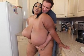 Pretentiously Hooters Moonless BBW Cotton Candi Fucks Colourless Rafter