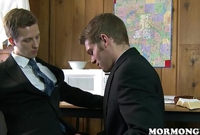 Mormon Little shaver Joys Twink Study Pal with