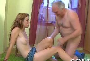 Elderly darling bonks young cum-hole