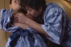 Japanese Milf With an increment of Laddie First Time
