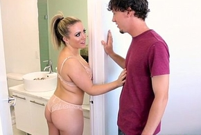 MILF Carmen Valentina makes stepson an be able he hindquarters not refuse