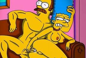 Simpsons porn mock caricature
