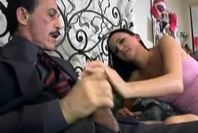 Magnificent babysitter sucks say no to boss'_s cock