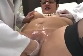 Amateur BBW french milf fisted analyzed increased by facialized surrounding 3way at one's fingertips the gyneco