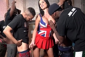 Jasmine jae acquires drilled plus bukkaked at the end of one's tether felonious females