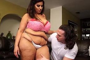 Busty Latina MILF Sofia Salmon-coloured Fucks Hung Stud
