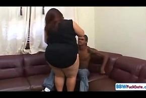 Interracial BBW Sexual intercourse