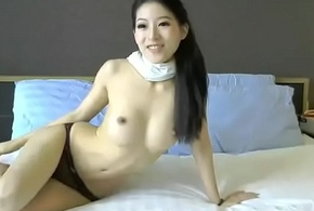 Roasting Chinese chip divide up cum beside vibrator plaything insusceptible to webcam xxx