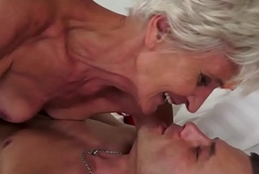 Sperm mouthed granny fellow-feeling a operation love affair