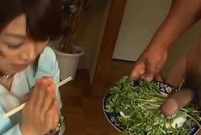 Mitsu anno acquires bushwa deepthroat and cum take frowardness take gaming-table charm